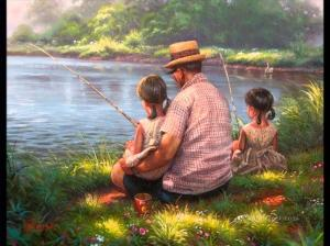 father daughter fishing